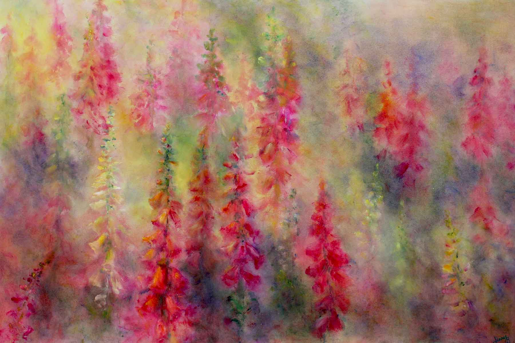 Jenny Brown - Foxgloves in Dancing Light